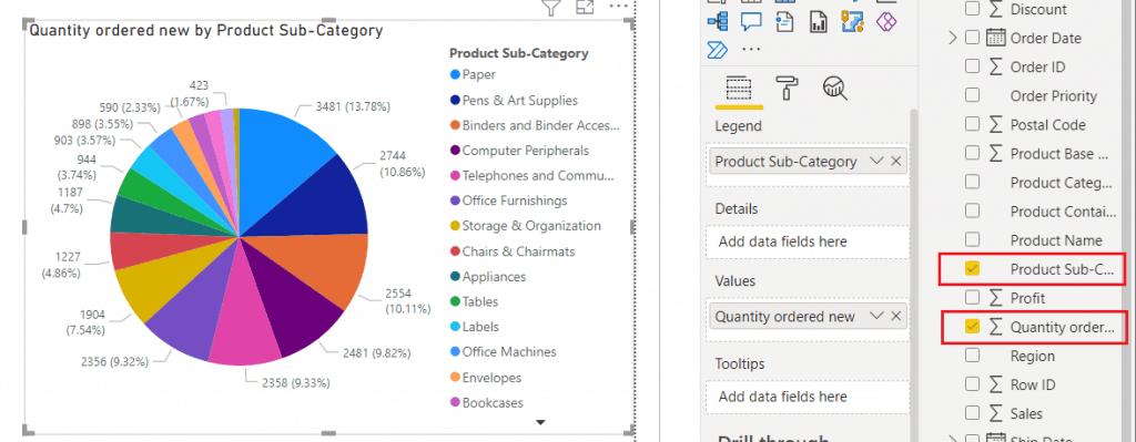 Power BI pie Chart filters