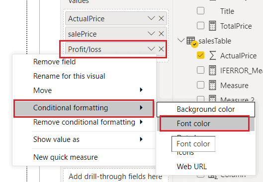 Power Bi if positive green if negative red