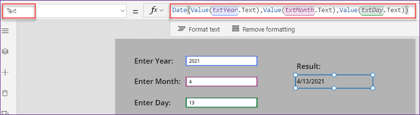 PowerApps Date Function