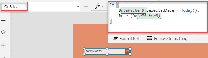 PowerApps Date Picker Disable Past Days