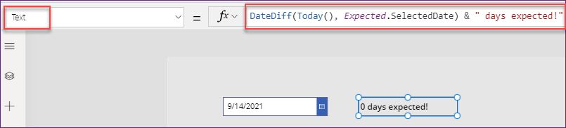 PowerApps Date Picker examples