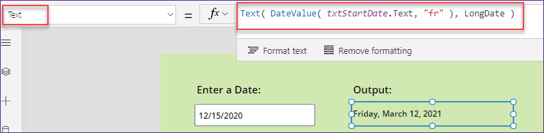 PowerApps DateValue examples