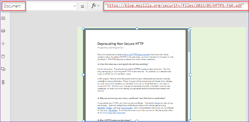 PowerApps PDF Viewer Examples