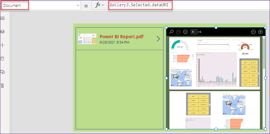 PowerApps PDF Viewer control using flow