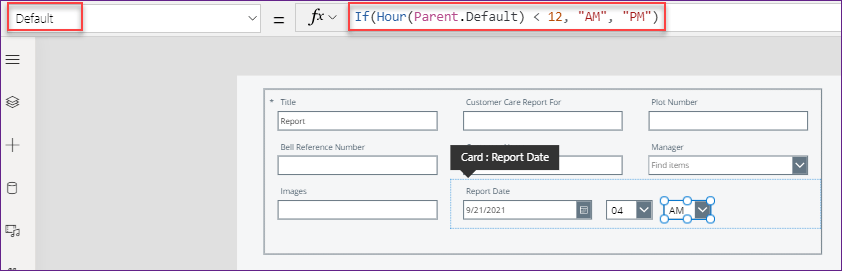 PowerApps Time Picker am pm