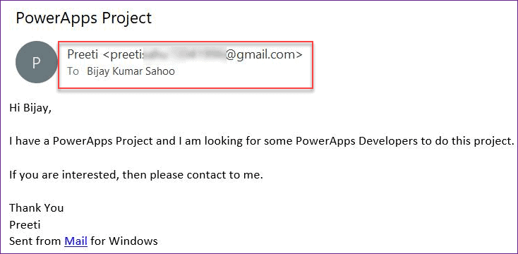 PowerApps button mailto function