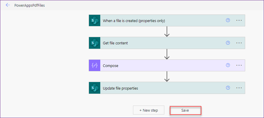powerapps pdf viewer in sharepoint library using flow