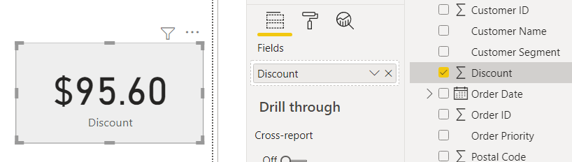 showing $ sign in power bi card