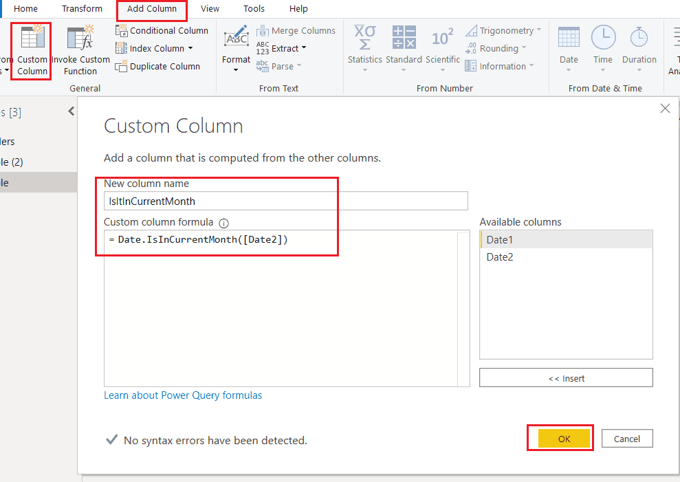 Power BI if date is in current month