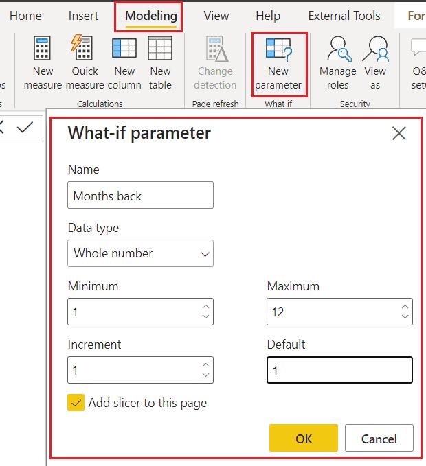 Power bi date what-if parameter