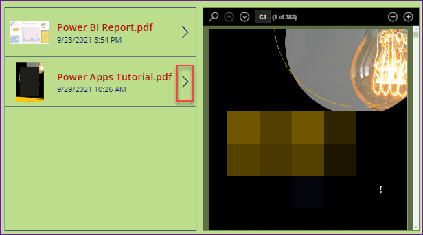 PowerApps PDF Viewer control with flow