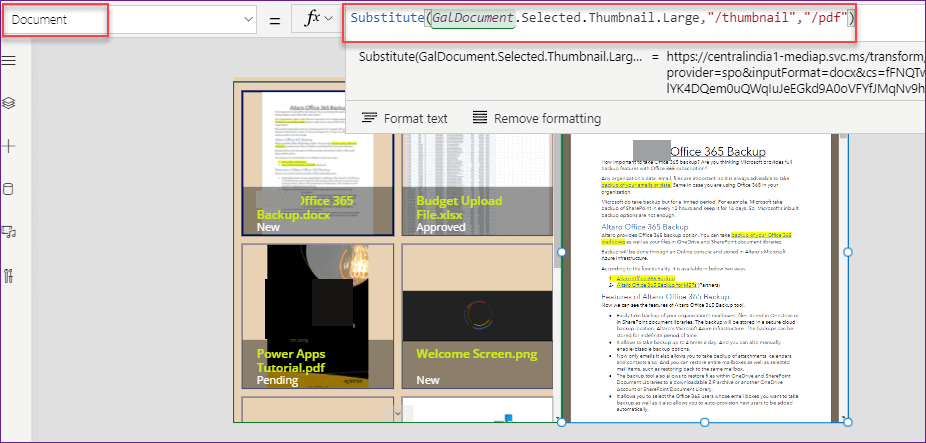 PowerApps PDF Viewer experimental control