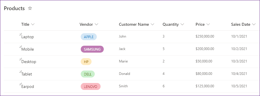 PowerApps data table filter