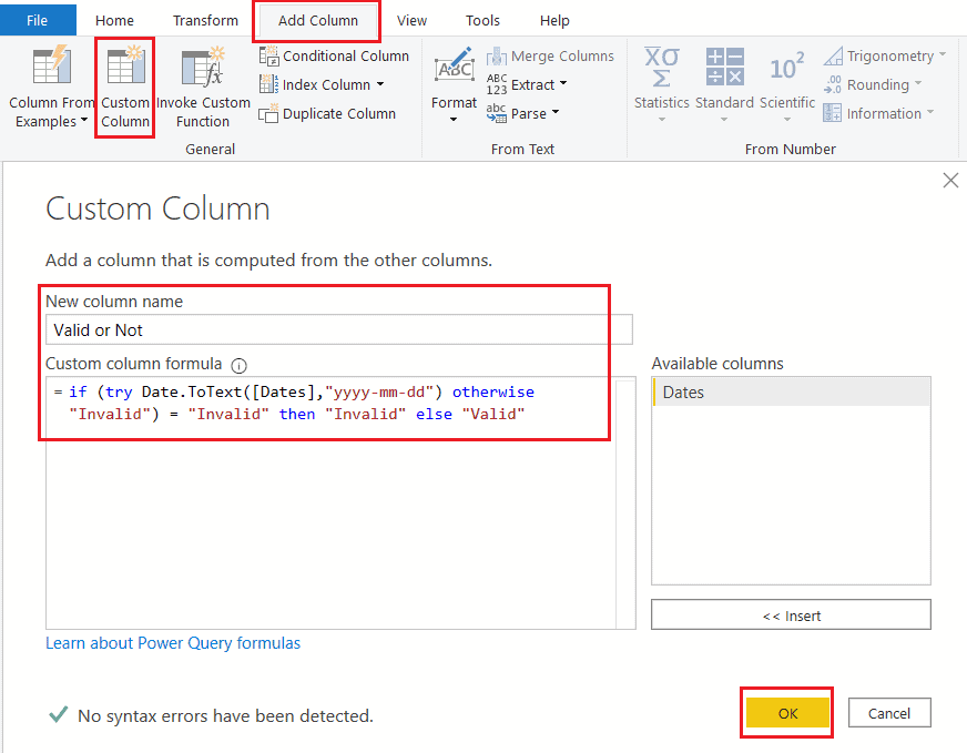check if the value is date or not in Power BI