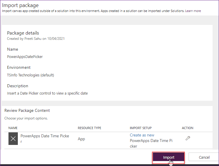 move powerapps from one environment to another
