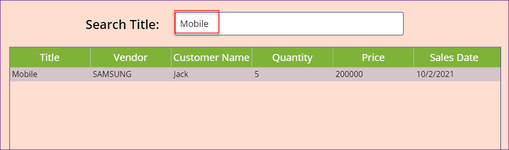 filter PowerApps data table