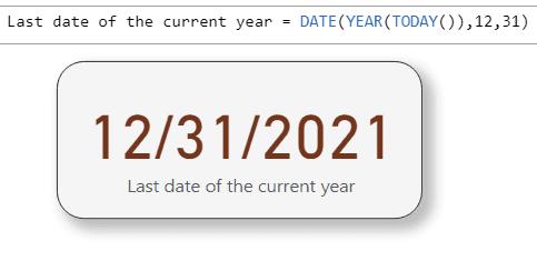 power bi last date of year