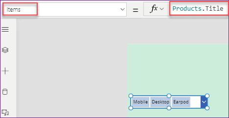 powerapps data table filter sharepoint column